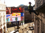 Piccadilly Circus Building Painting - Industrial Abseiling Work