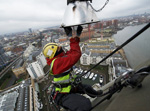 Chelsea Harbour Light Bulb Change - Industrial Rope Access